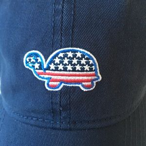 Cooper cove hat turtle flag 4th of July blue